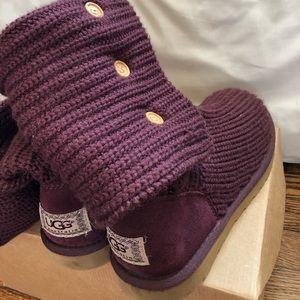 UGG Plum Knit Boots